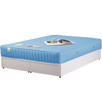 Homelike 麗緻床架+獨立筒床墊-雙人5尺(四色可選)