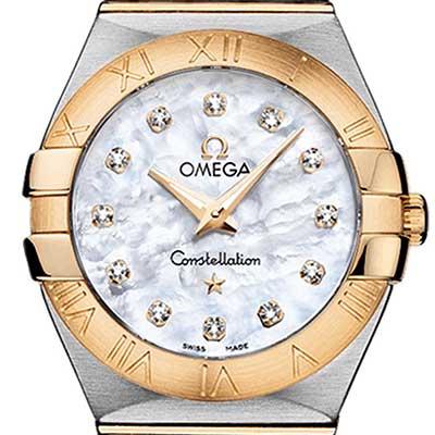 OMEGA 歐米茄 Constellation 星座系列 石英女錶- 27 mm