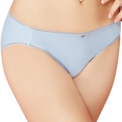 思薇爾 嗨Q Bra系列M-XL素面低腰三角褲(淡藍色)