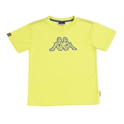 KAPPA義大利小朋友吸濕排汗速乾彩色圓領衫~岩草綠色