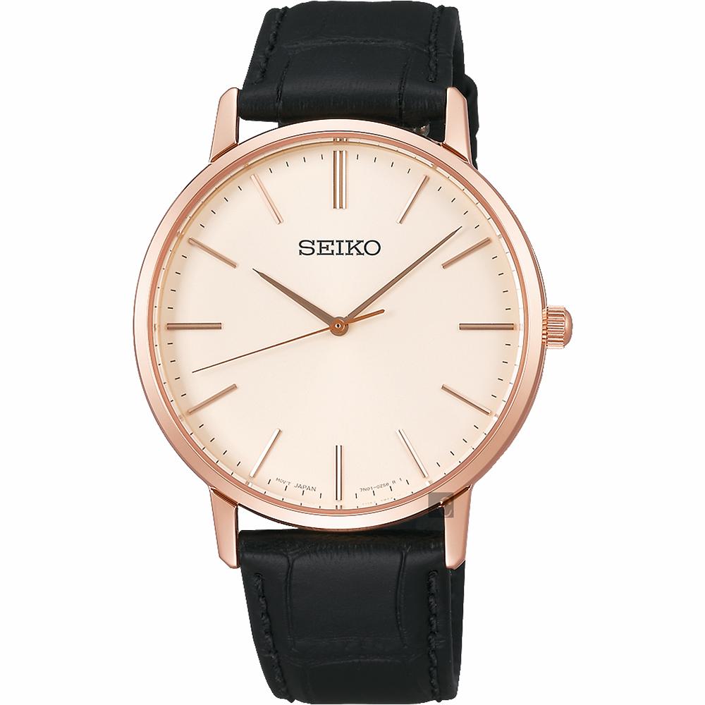 SEIKO精工 SRIPIT 城市型男手錶(SCXP076J)-米x黑/38mm