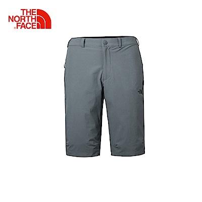 The North Face北面男款深灰防潑水戶外徒步短褲