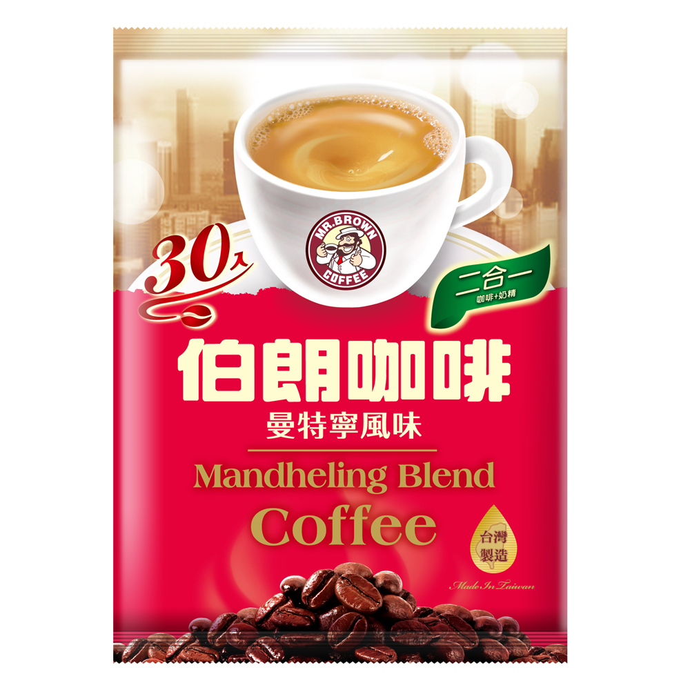 伯朗咖啡 二合一曼特寧-無糖(30包/袋)
