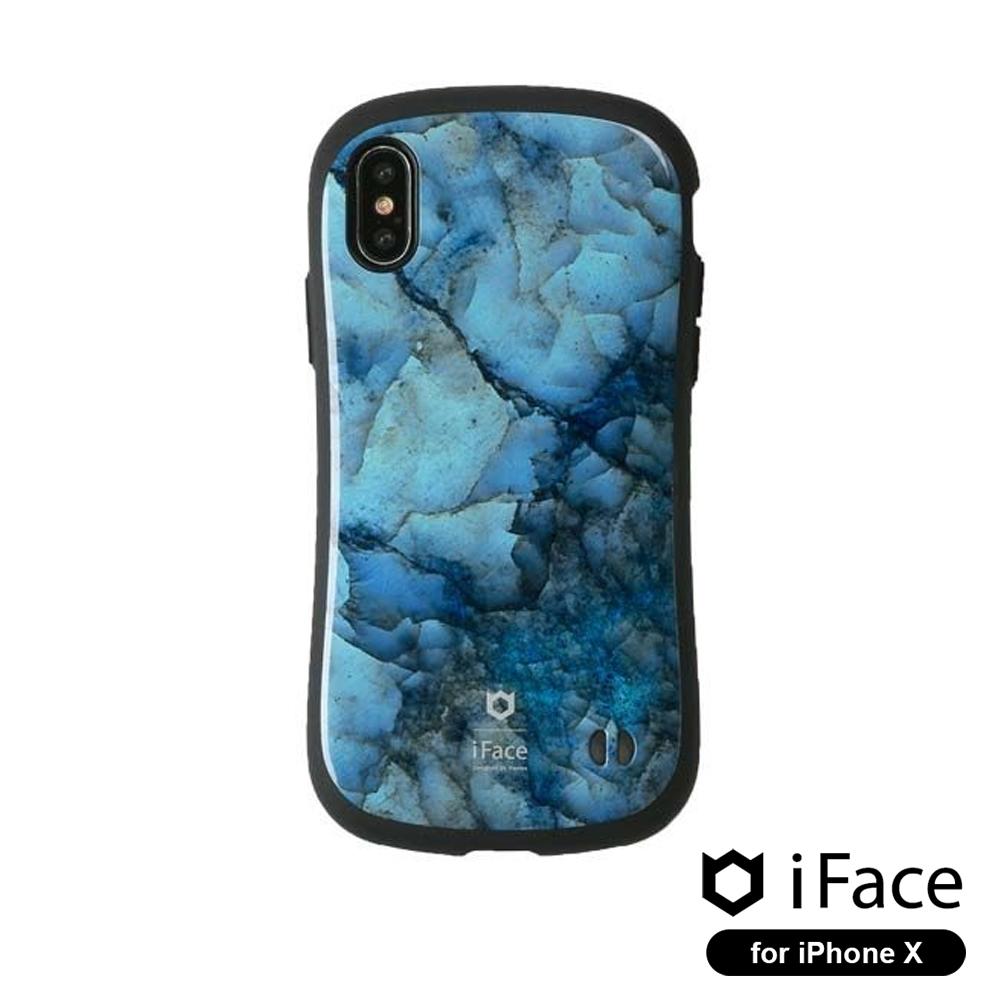 iFace First Class iPhoneX雙素材吸震抗衝擊手機殼大理石