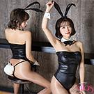 兔女郎 性感尤物長耳巨尾連身衣4件套 (黑色) alas