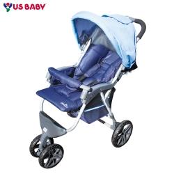 ELSKER歐風三輪式嬰兒推車689-藍