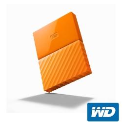 WD My Passport 1TB 2.5吋行動硬碟(WESN)-橘色系