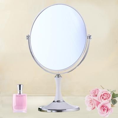 幸福揚邑 8吋超大時尚化妝放大雙面鏡/桌鏡-純白