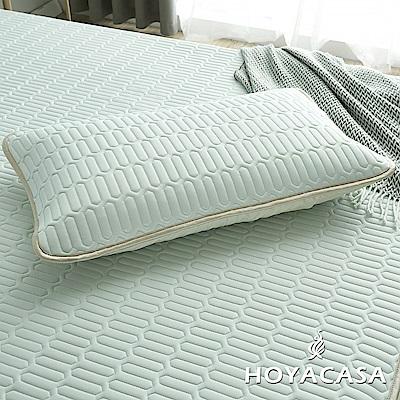 HOYACASA創新可水洗乳膠透氣枕套(星空綠)