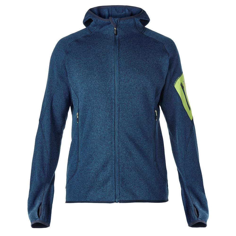 【Berghaus 貝豪斯】男款保暖刷毛連帽外套H22MT8大海藍