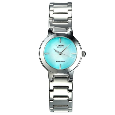 CASIO 時尚精緻小巧甜美淑女腕錶(LTP-1191A-3C)-珍珠母貝綠色/25.5mm