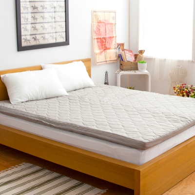 LAMINA  環保咖啡紗舒適床墊-5cm (雙人)