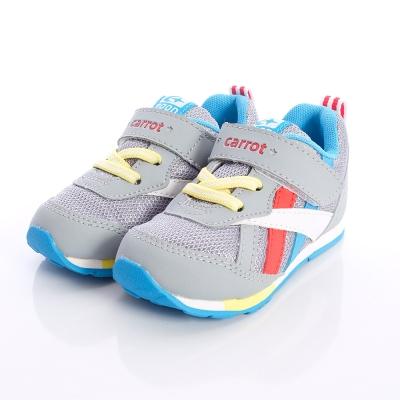 日本Carrot機能童鞋-輕量透氣機能款-CRC207747灰(中小童段)