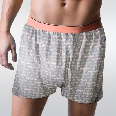 sloggi men-寬鬆系列Tattoo 針織平口內褲 M-XXL (灰)