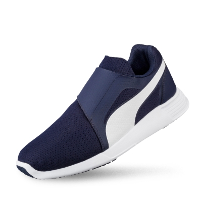 PUMA ST TrainerEvoAC男女復古慢跑運動鞋-重深藍