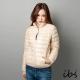 ibs-極輕量純白絨立領羽絨外套-女-米