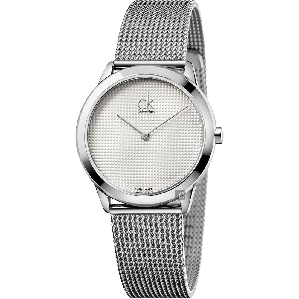 Calvin Klein CK Minimal 極簡米蘭帶女錶-銀/35mm