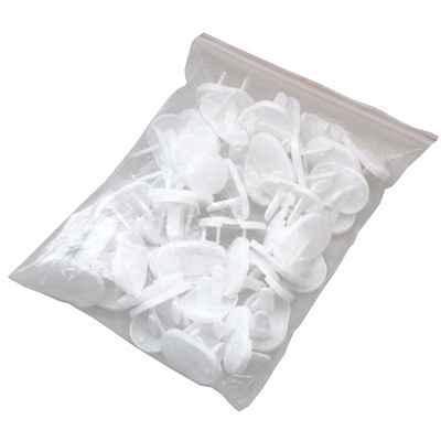 超值2孔幼兒安全防觸電插座保護蓋安全蓋50入簡易袋包裝(306)
