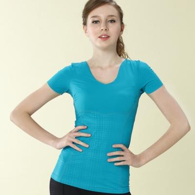 思薇爾 舒曼曲現系列修飾型短袖上衣(微風藍)