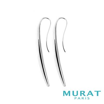MURAT Paris米哈巴黎 簡約圓弧立體耳環
