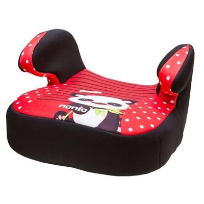 法國NANIA納尼亞輔助型汽車座椅-熊貓紅-花豹灰