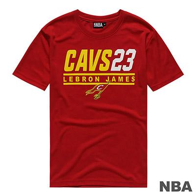 NBA LeBron James騎士隊經典印花快排短T-深紅 (男)