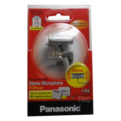 Panasonic領夾式錄音專用麥克風(RP-VC201)