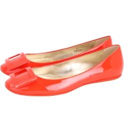 Roger Vivier Gommette 漆皮方框平底娃娃鞋(橘色)