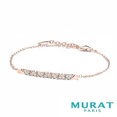 MURAT Paris米哈巴黎 交疊三角曲線手鍊(玫瑰金)