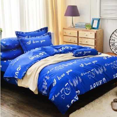 Goelia 艾凡達 加大 活性印染超細纖 全鋪棉床包兩用被四件組