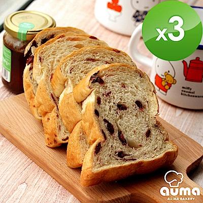 奧瑪烘焙健康ㄟ吐司-玫瑰蔓越莓湯種吐司X3入