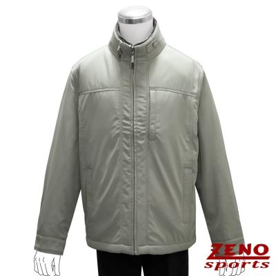 ZENO-簡約設計厚暖精品外套-大地灰M-3L