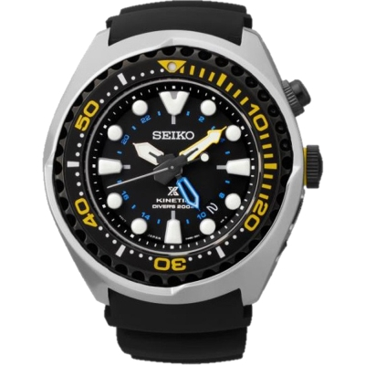 SEIKO PROSPEX Kinetic 人工電能膠帶潛水錶(SUN021P1)-48mm