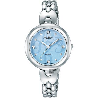 ALBA 施華洛世奇晶鑽手鍊女錶(AH8345X1)-藍x銀/28mm