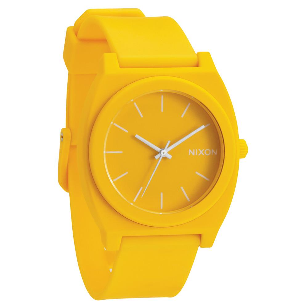 NIXON THE TIME TELLER P躍動普普個性腕錶-黃/40mm