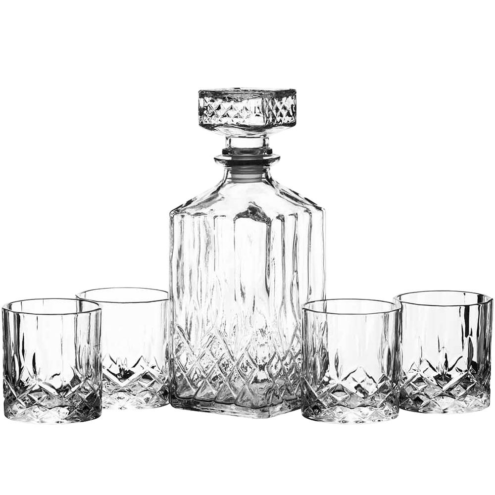 KitchenCraft 烈酒瓶+玻璃杯4入