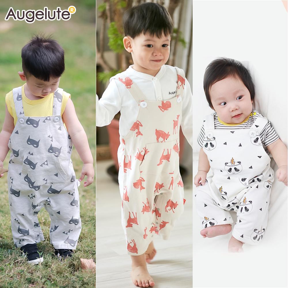 baby童衣 滿版動物印花吊帶褲 61124
