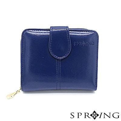 SPRING-奢華秘境名媛短夾-極致藍