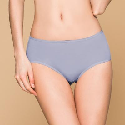 台灣製 保養級天然蠶絲蛋白低敏感透氣 M-XL 中腰內褲 含蓄藍 可蘭霓Clany