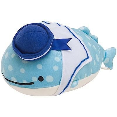 鯨鯊先生海軍好朋友系列QQ毛絨公仔 (S)。鯨鯊先生San-X