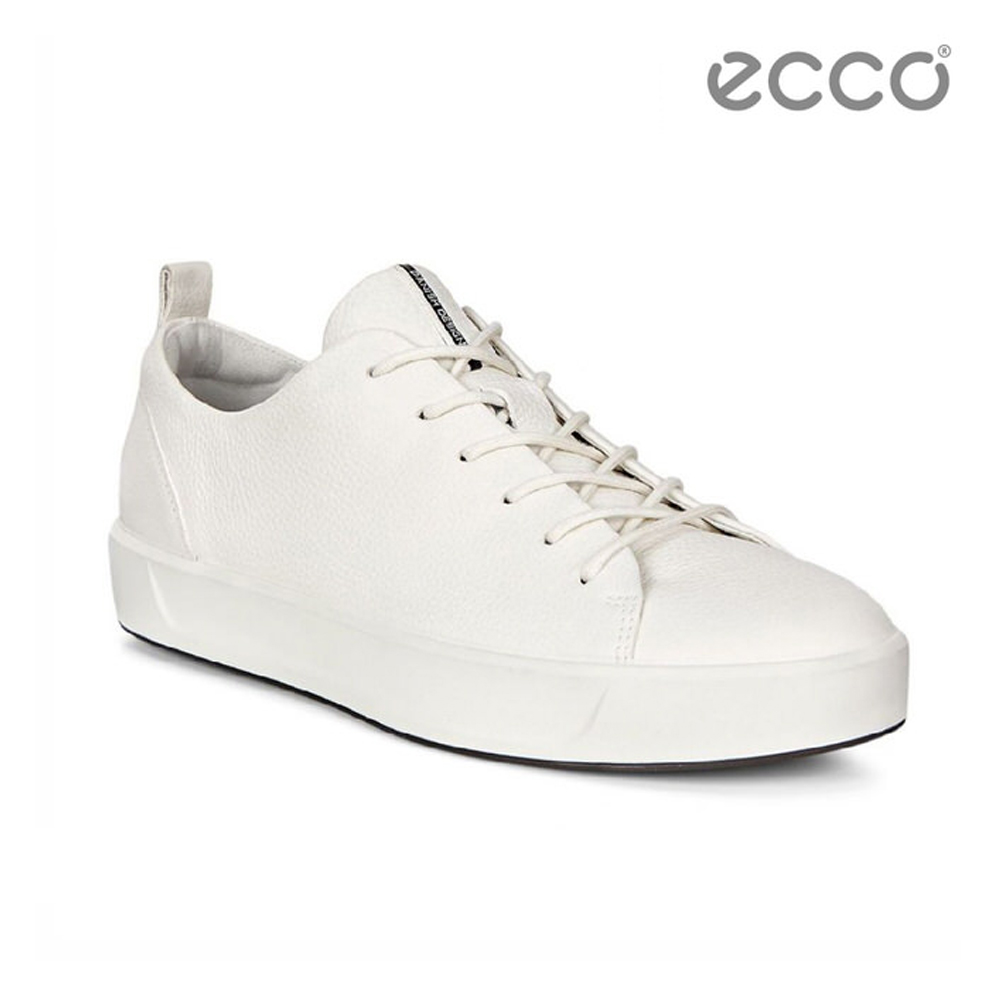 ECCO SOFT 8 LADIES 簡約休閒鞋-白
