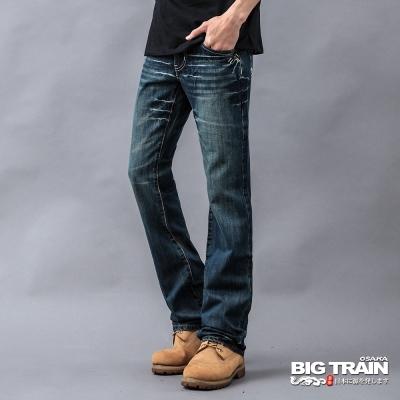 BIG TRAIN-合身靴型褲-深藍