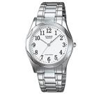 CASIO 時尚輝煌指針紳士錶(MTP-1275D-7B)-白/35mm
