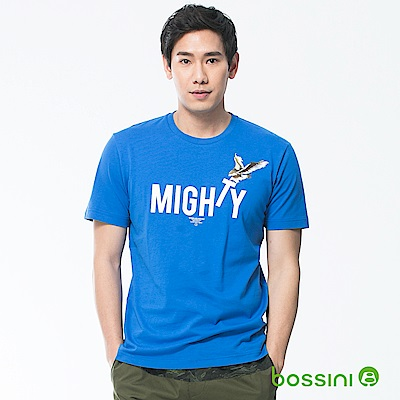bossini男裝-印花短袖T恤03藍紫