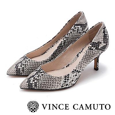 Vince Camuto 真皮質感尖頭中跟鞋-蛇紋