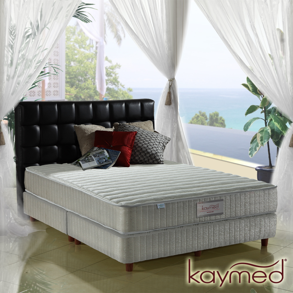 Kaymed Coolfoam自然感 二線高澎度免翻面乳膠+記憶膠獨立筒床墊 單人3.5尺