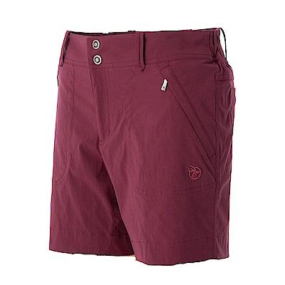 【Wildland 荒野】女彈性抗UV短褲紅