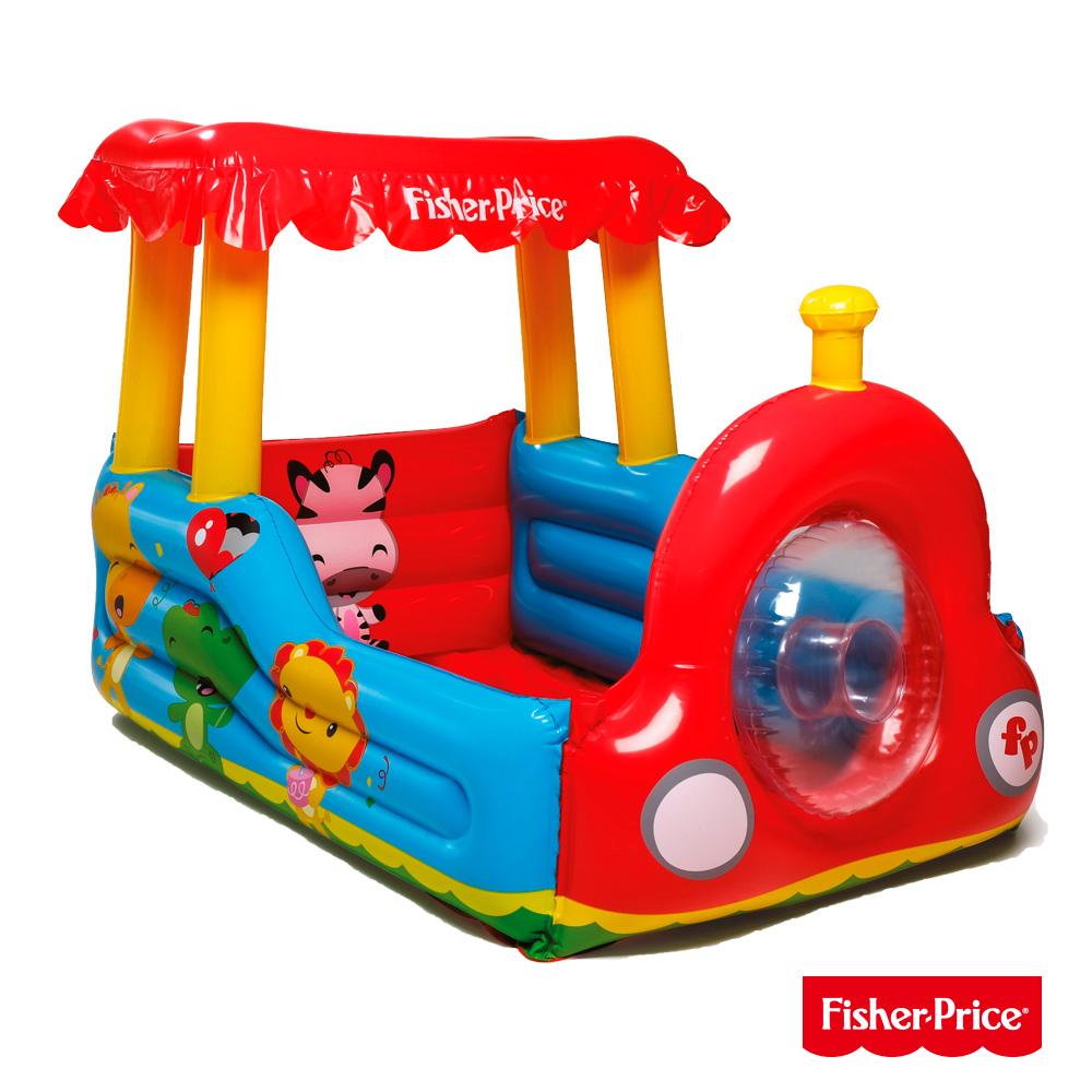 《凡太奇》Fisher-Price。火車造型充氣球池(附25顆球)93503