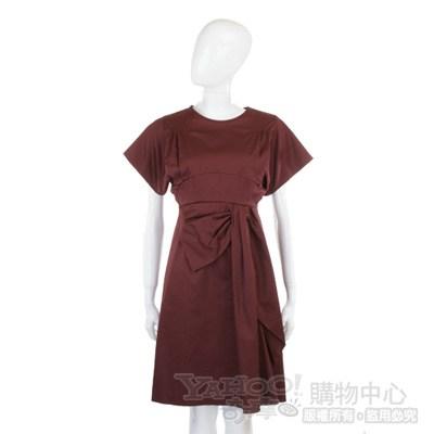 KENZO 暗紅色短袖洋裝