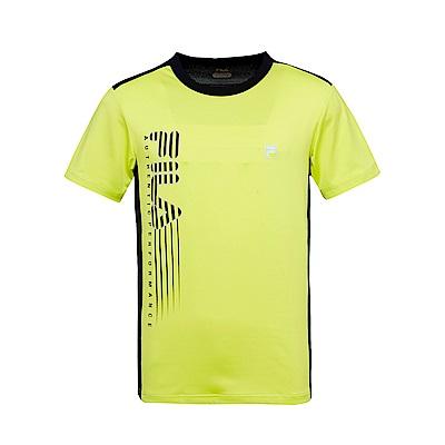 FILA 男抗UV吸濕排汗T恤-果綠 1TES-1302-LN